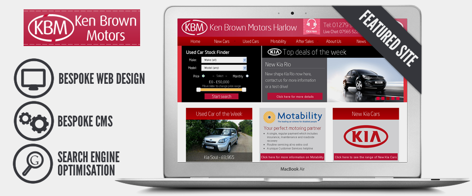 Web Design For - Ken Brown Motors