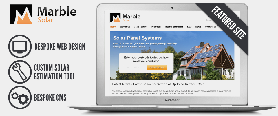 Web Design For - Marble Solar Project
