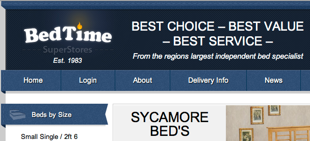 Screen Shot 2012 04 23 at 12.38.32 Bedtime superstores brand new website goes live