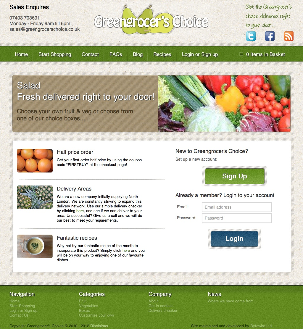 greengrocers home Inspirecard