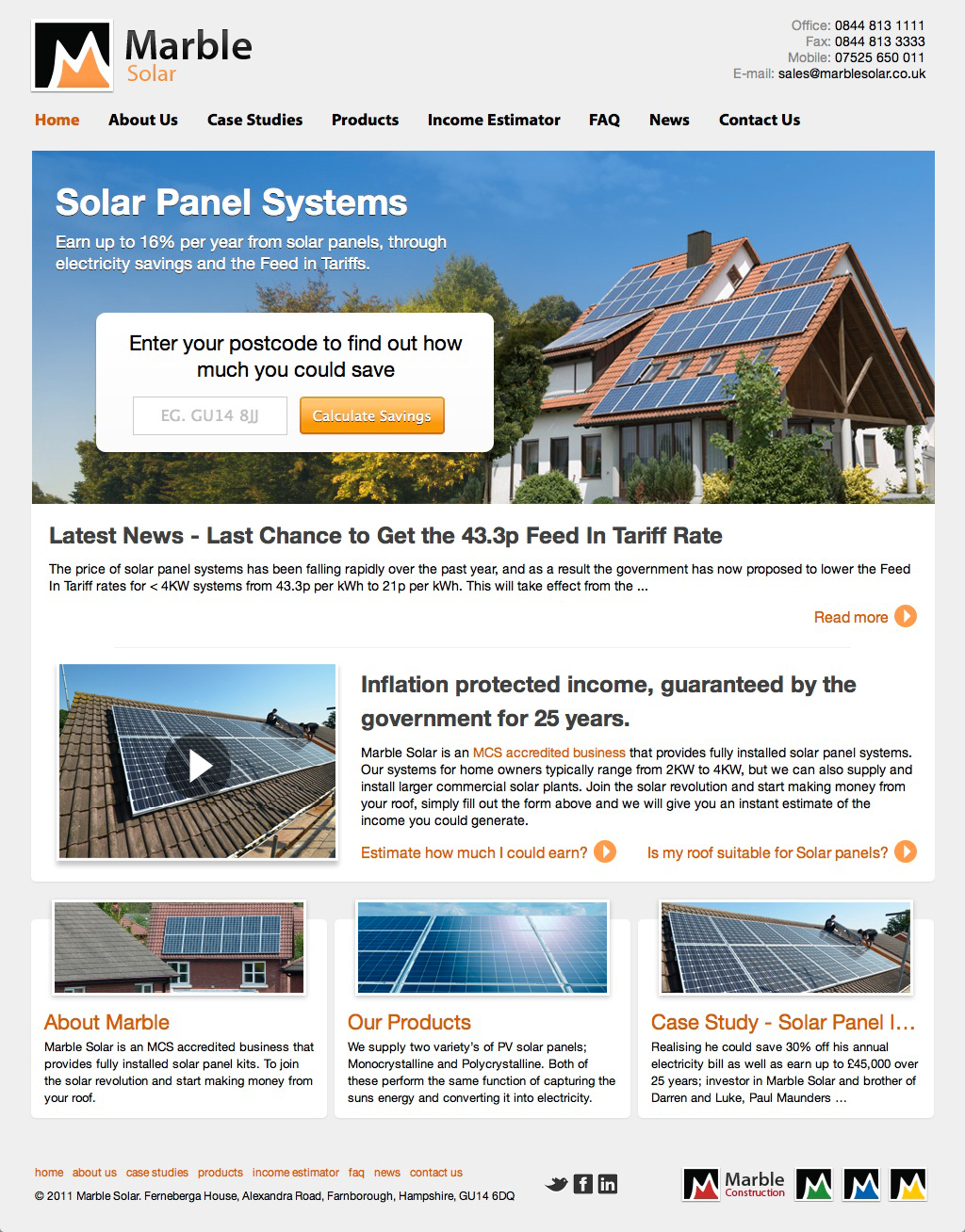 marblesolar home Marble Solar