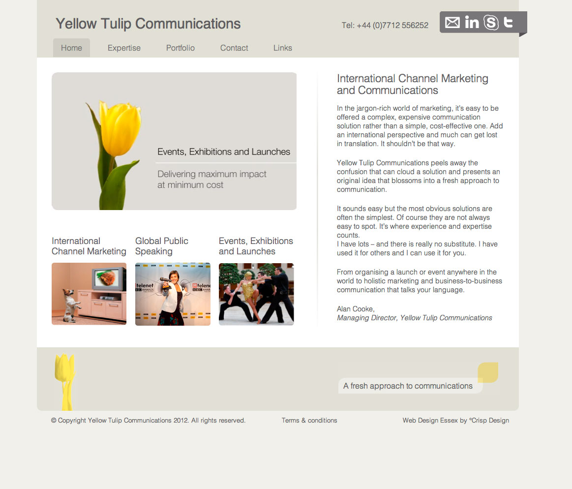 yellow tullip home Yellow Tulip Communications