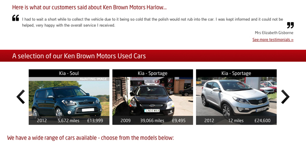 Kia Ken Brown Motors Harlow Screenshot 3