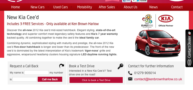Kia Ken Brown Motors Harlow Screenshot 6