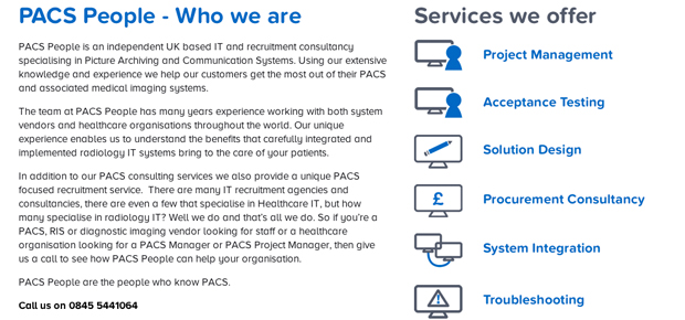 PACS People Website Screenshot 2