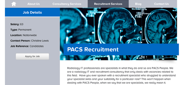 PACS People Screenshot 6 Recruitment